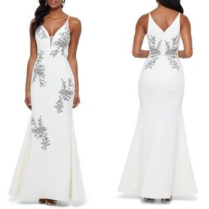 XSCAPE Beaded Embroidery Evening Dress GOWN 10